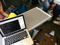 Hardware hacking in the train.